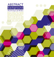 Colorful honeycomb abstract background with vector