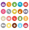 Shopping flat icons on white background vector
