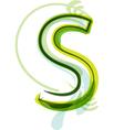 Green letter s vector