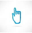 Hand with the index finger vector
