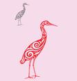 Egret ornate vector
