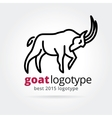 2015 goat logotype isolated on white background vector
