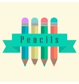 Set of pencils with a ribbon vector