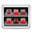 Dinner red app icons vector