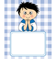 First communion boy vector