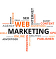 Word cloud web marketing vector