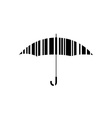Bar code umbrella vector