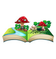 Mushroom popup book vector