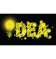 Lightbulb idea vector