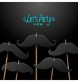 Hipster party design template for card poster vector