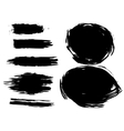 Set of artistic brush vector