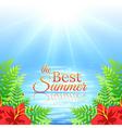 Summer sea background vector
