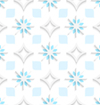 White pointy rhombuses with blue and white vector
