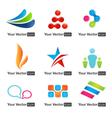 Web icons and logo design elements set vector