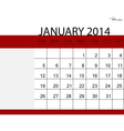 Simple 2014 calendar january vector