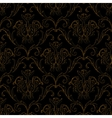 Seamless black with gold stripe floral background vector