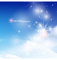 Blue winter background vector