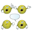 Angry tennis ball set vector