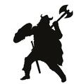 Viking warriors theme vector