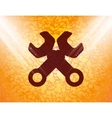 Wrench tool to work flat modern web button and vector