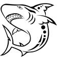 Shark tribal tattoo vector