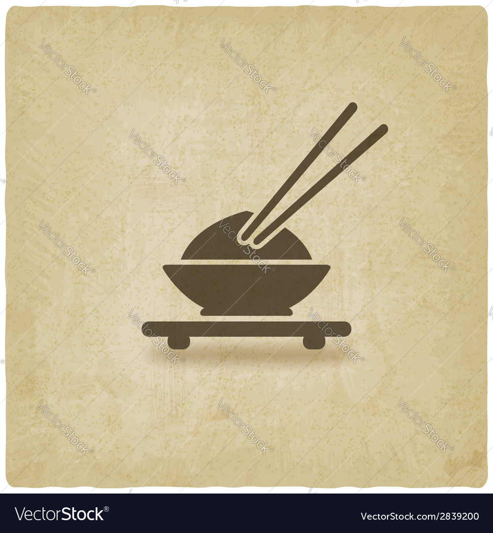 Asian food old background vector | Price: 1 Credit (USD $1)