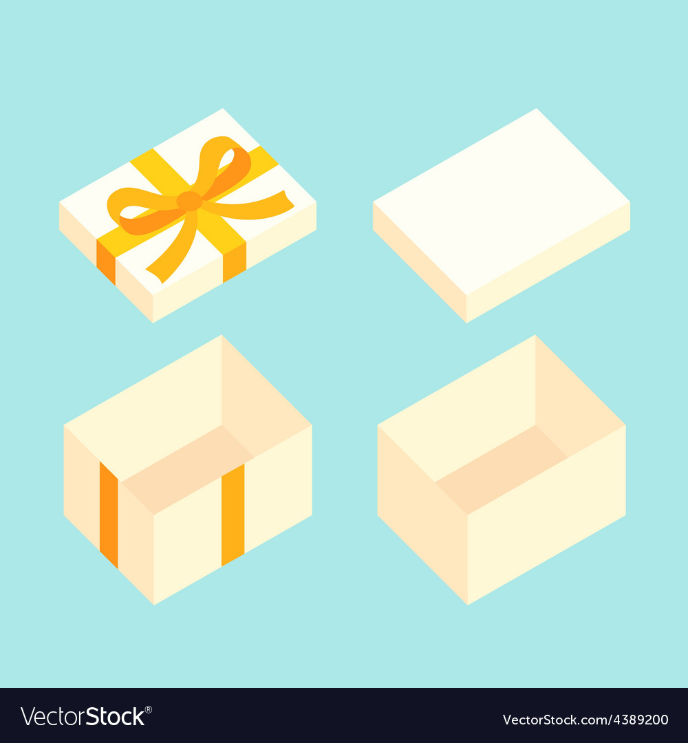 Christmas box vector | Price: 1 Credit (USD $1)