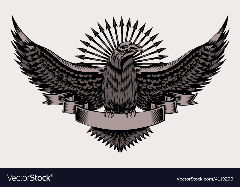 Emblem with eagle vector | Price: 3 Credit (USD $3)