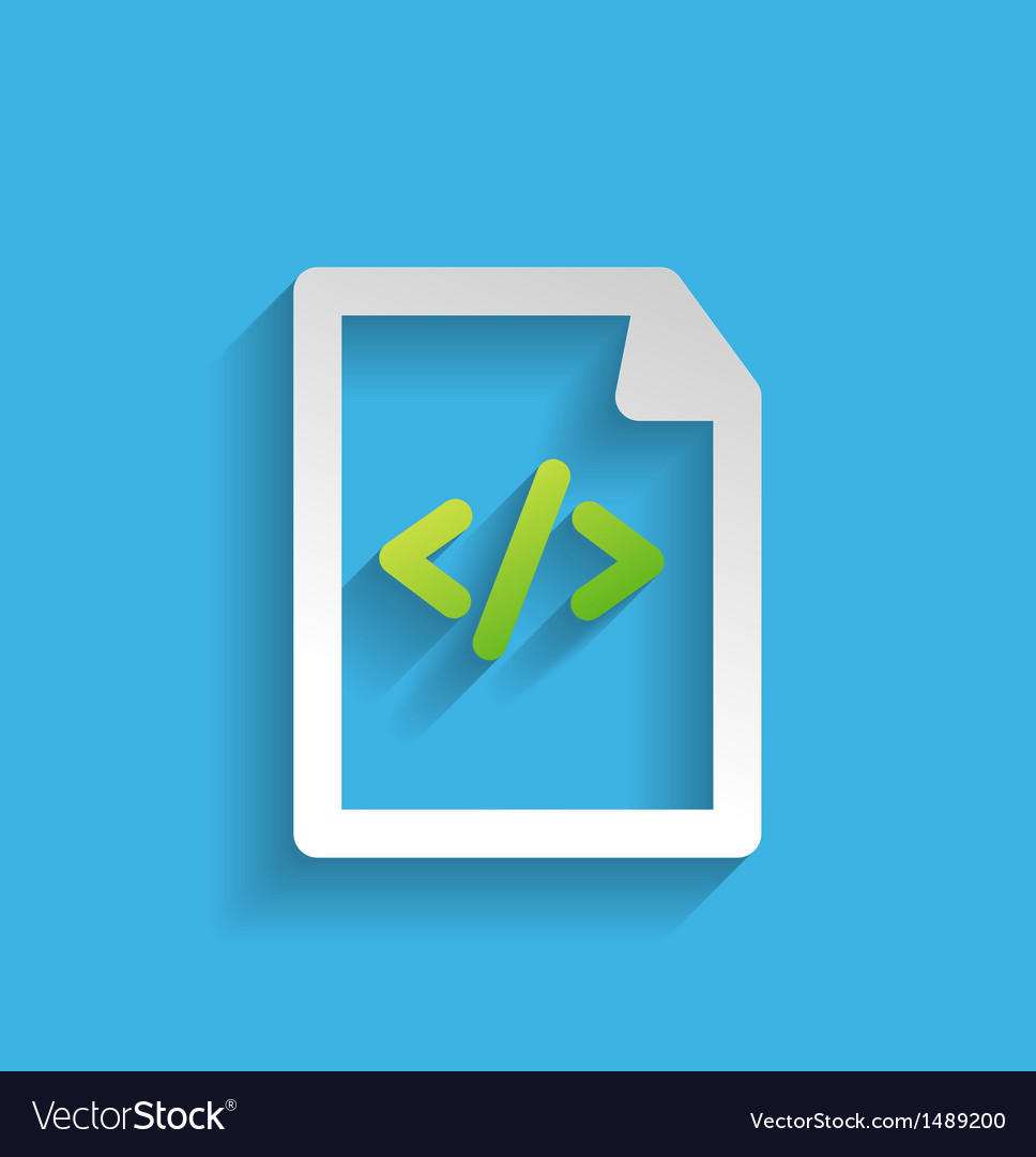 File  program flat icon vector | Price: 1 Credit (USD $1)