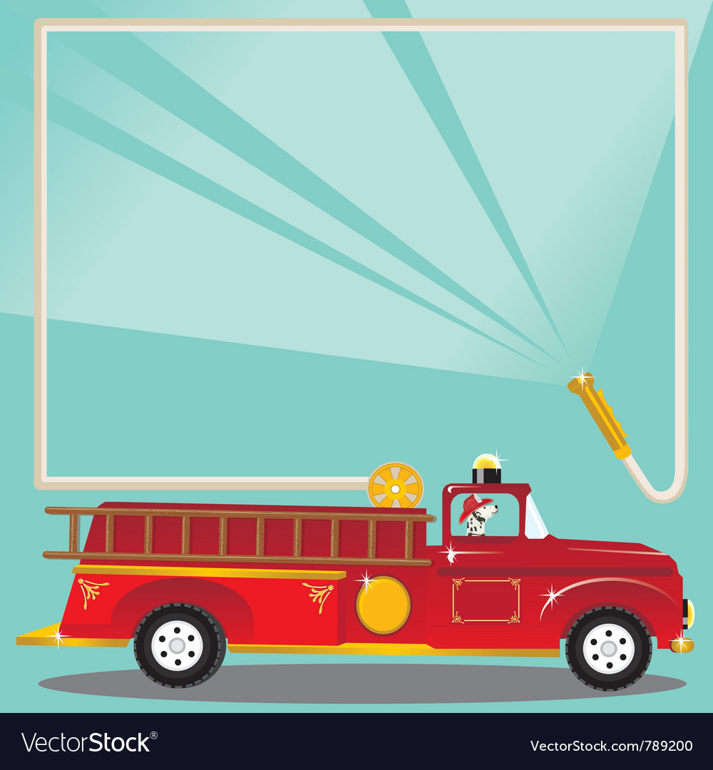 Firetruck birthday party vector | Price: 1 Credit (USD $1)