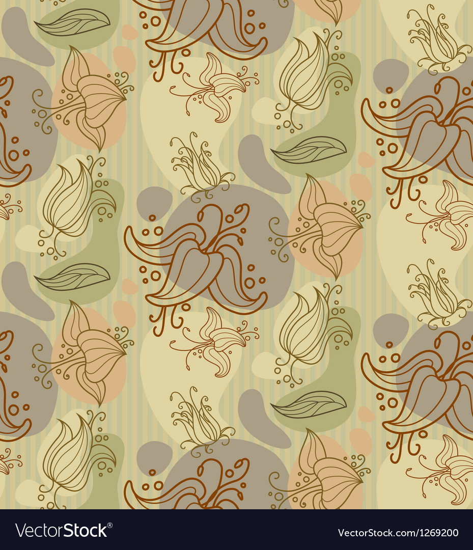 Flower seamless ornament vector | Price: 1 Credit (USD $1)