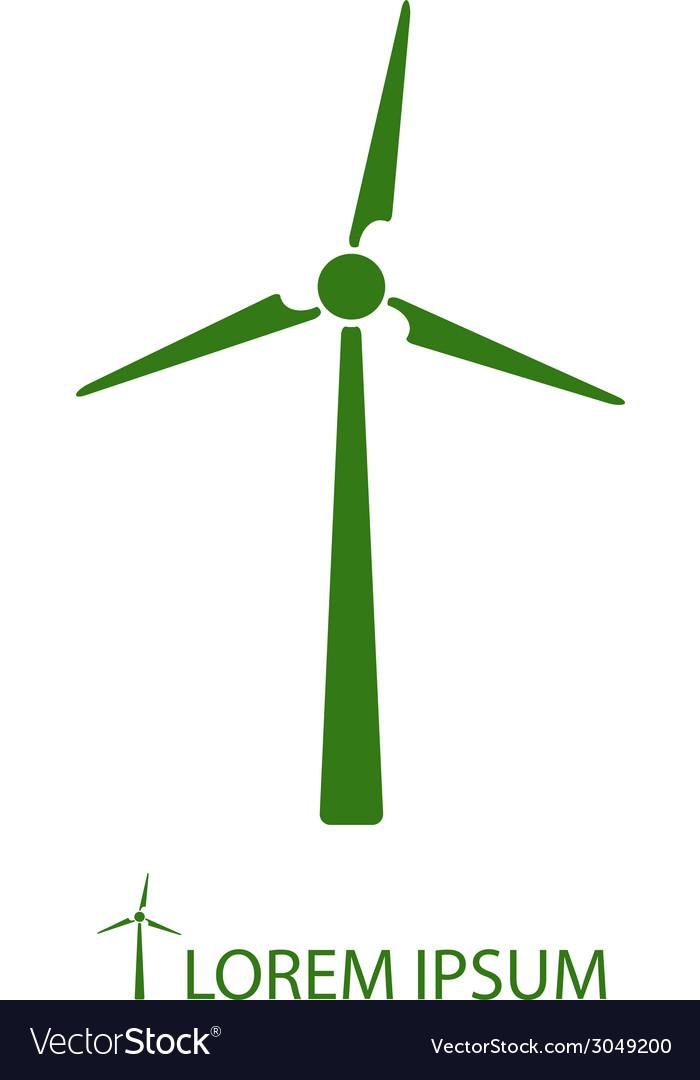 Green wind turbine vector | Price: 1 Credit (USD $1)