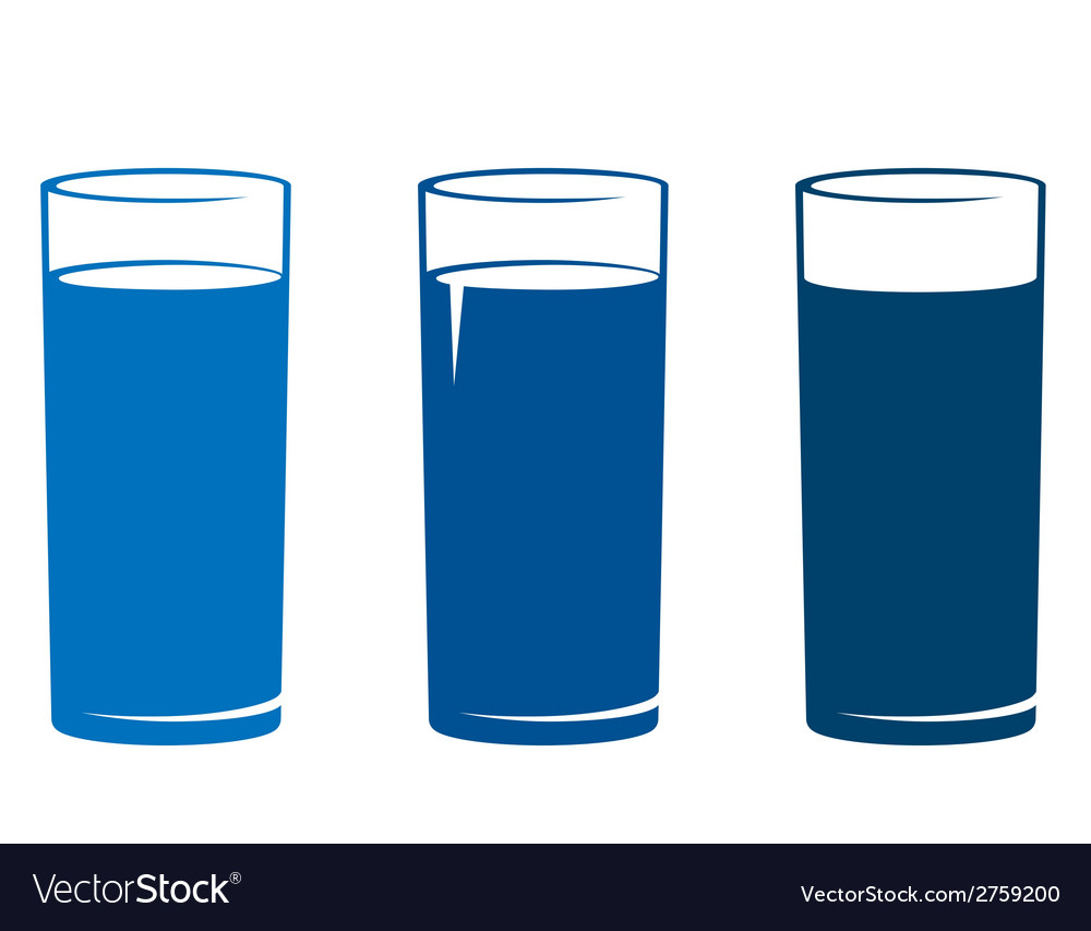 Isolated water glass set vector | Price: 1 Credit (USD $1)