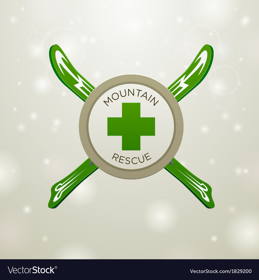 Logotype mountain rescue vector | Price: 1 Credit (USD $1)