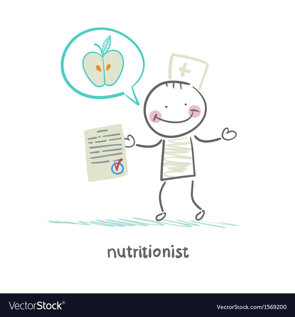 Nutritionist shows the document speaks of healthy vector | Price: 1 Credit (USD $1)