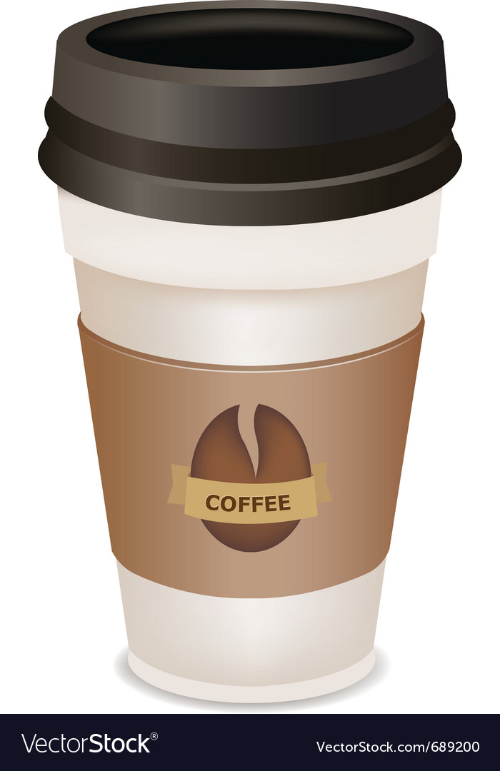 Plastic coffee cup vector | Price: 1 Credit (USD $1)