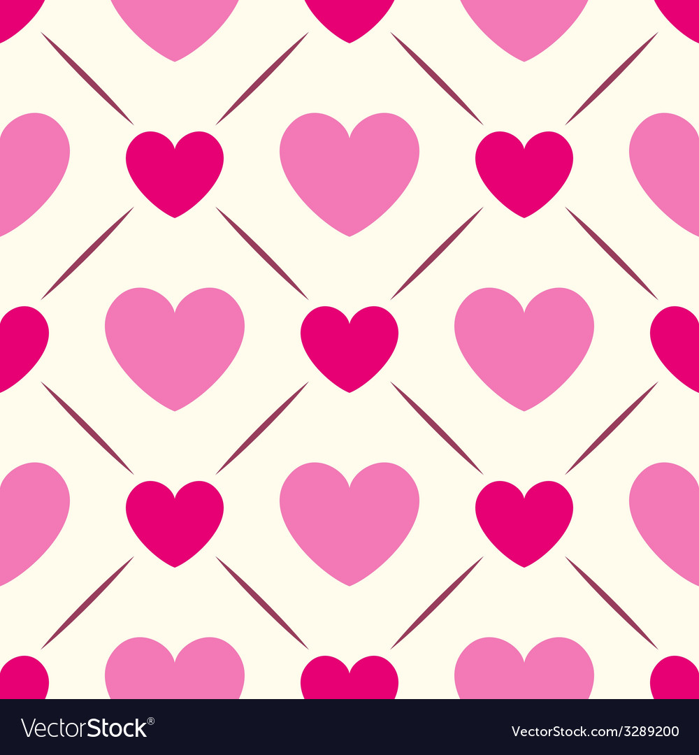 Seamless geometric pattern with hearts vector   Price: 1 Credit (USD $1)