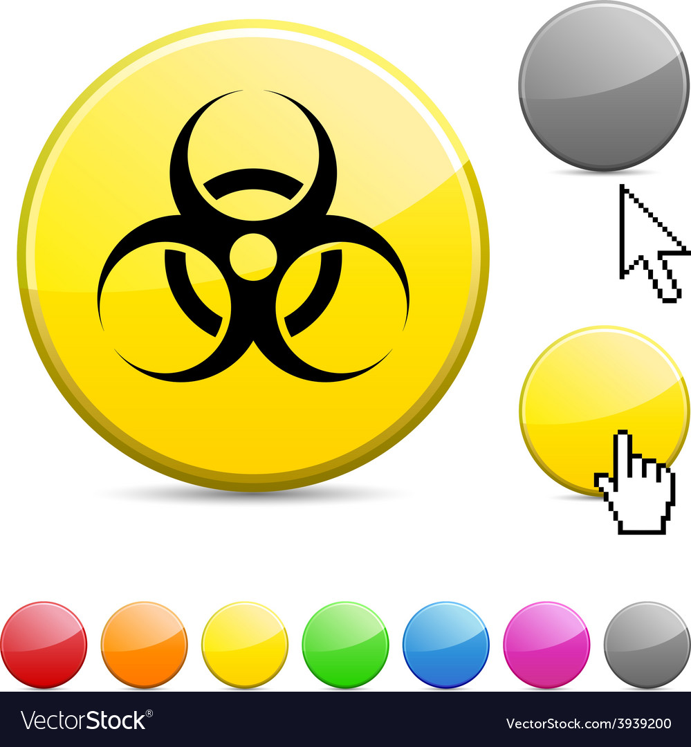Virus glossy button vector | Price: 1 Credit (USD $1)