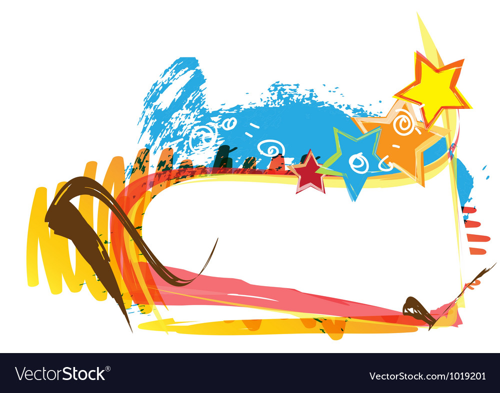 Banner design with paint background vector | Price: 1 Credit (USD $1)
