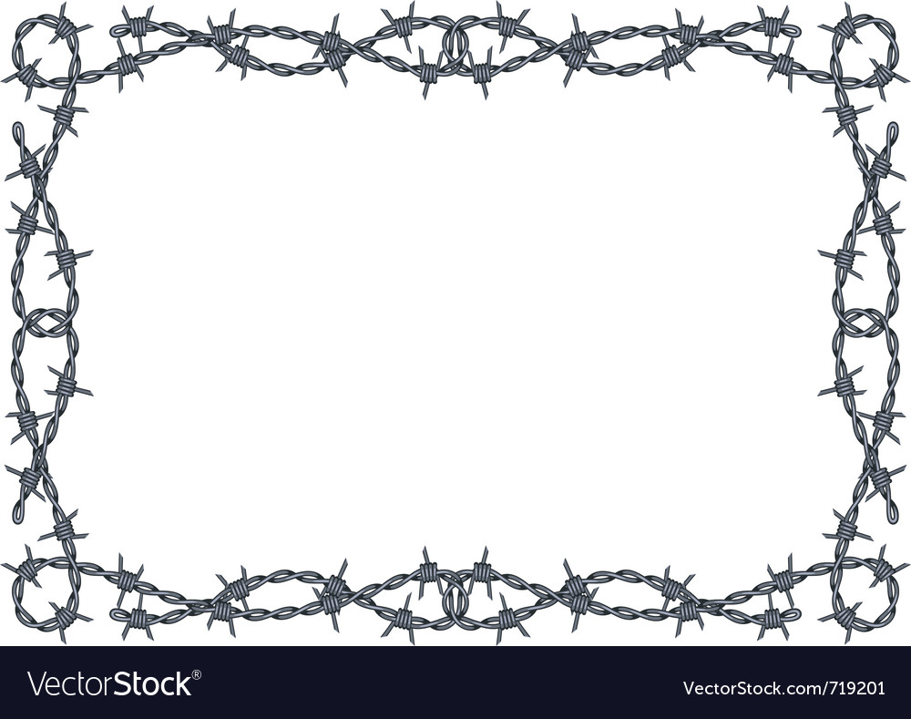 Barbed wire frame vector | Price: 1 Credit (USD $1)