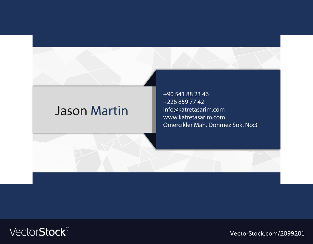 Blue corporate business card vector | Price: 1 Credit (USD $1)