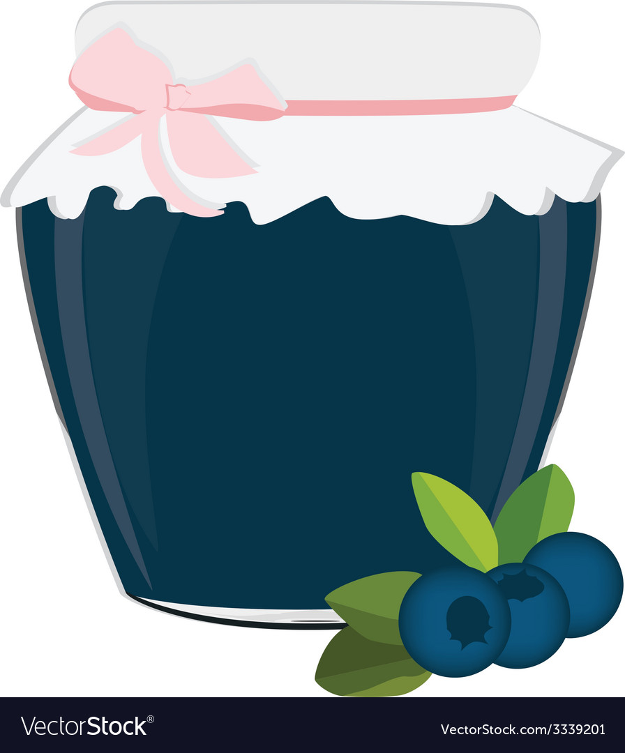 Blueberry jam vector | Price: 1 Credit (USD $1)