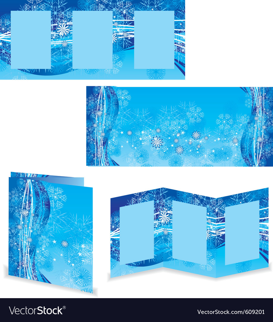 Christmas booklet or folder image vector | Price: 1 Credit (USD $1)