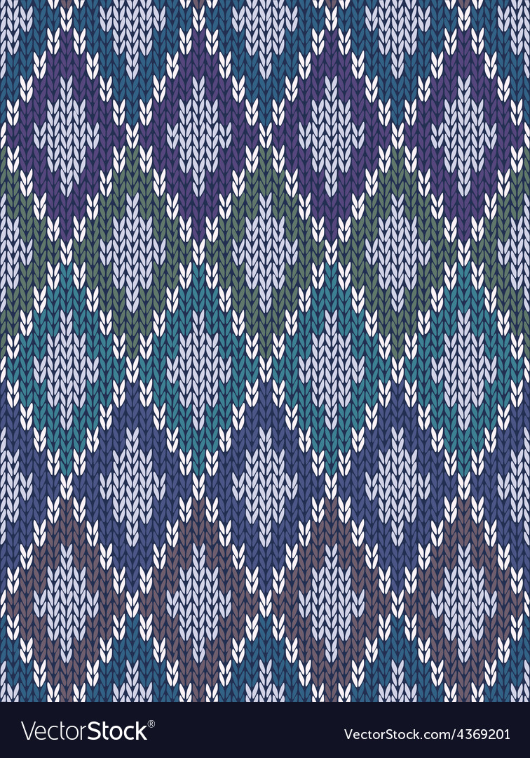 Color knitted wool gingham squares vector | Price: 1 Credit (USD $1)