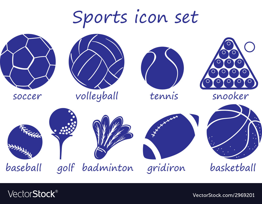 Different sports icon vector | Price: 1 Credit (USD $1)