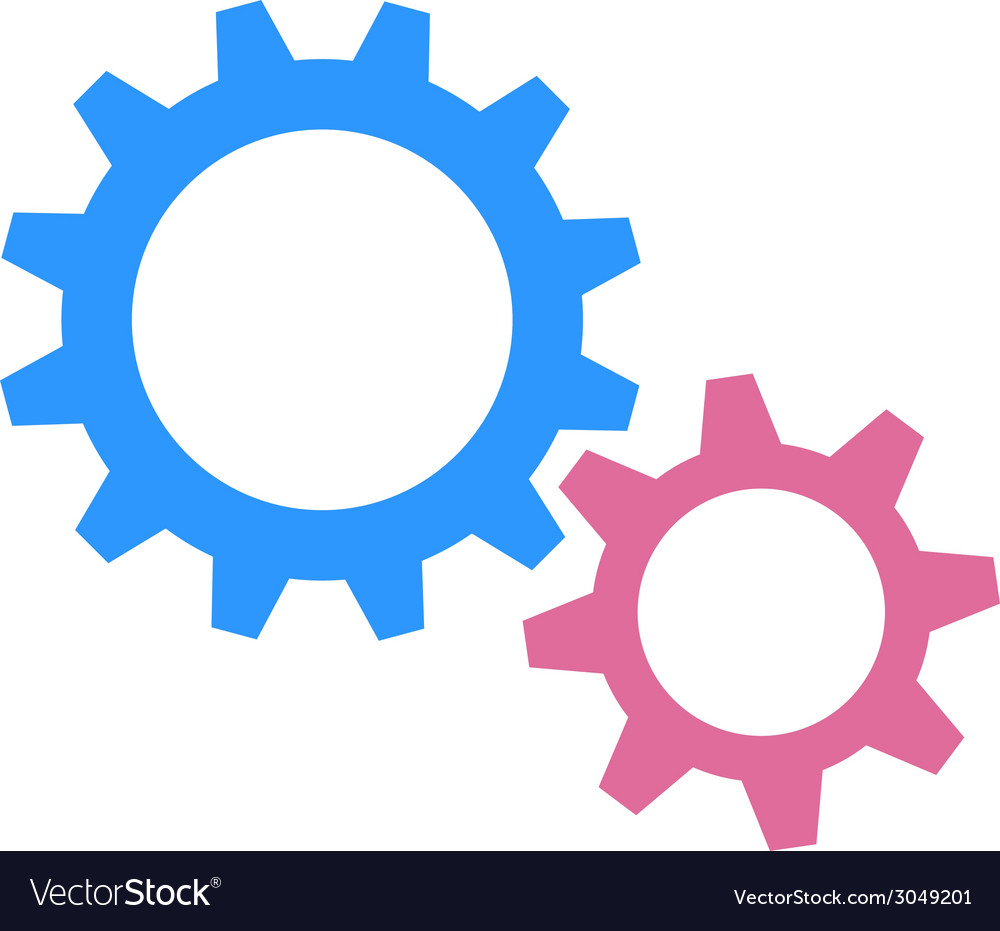 Gearwheels as man and woman vector | Price: 1 Credit (USD $1)