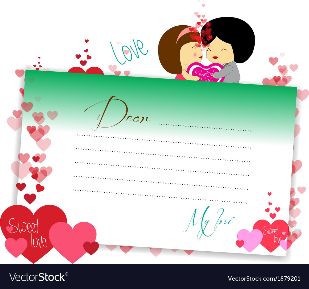 Letterhear for valentines green vector | Price: 1 Credit (USD $1)