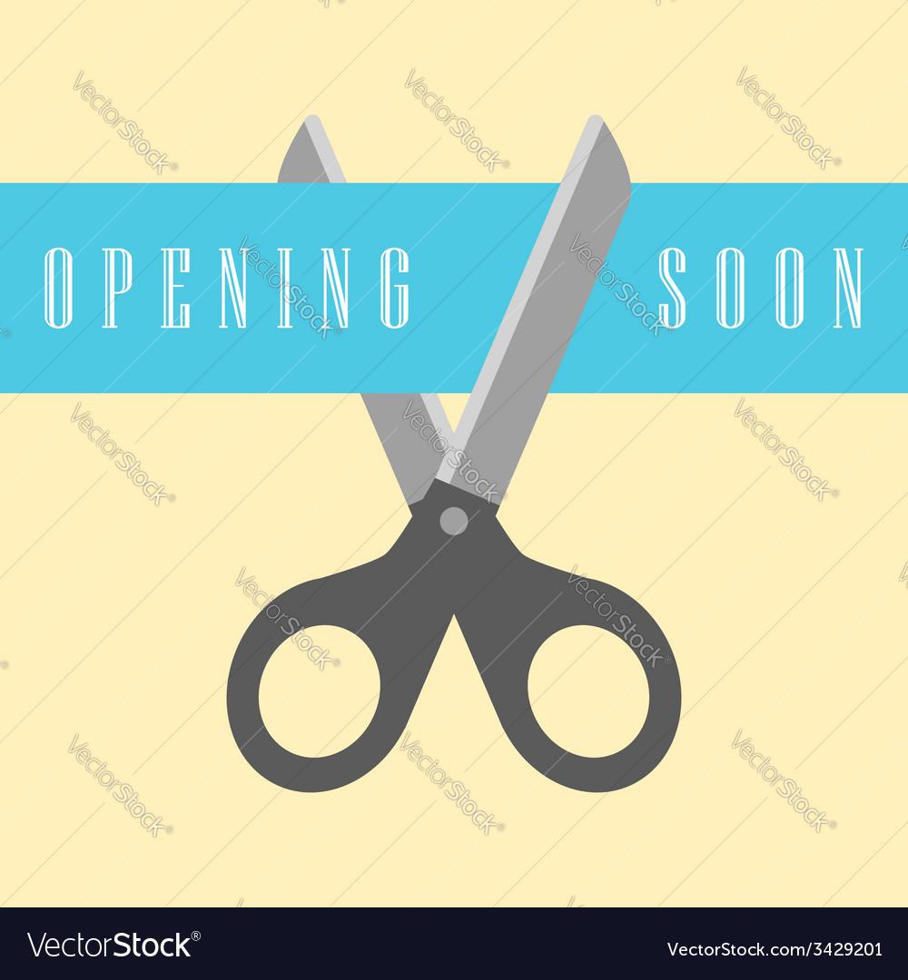 Open concept scissors cut the ribbon vector | Price: 1 Credit (USD $1)