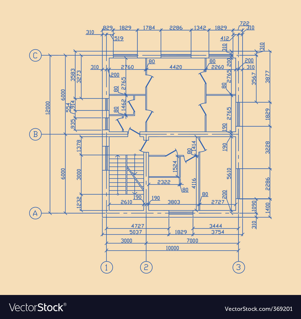 Plan of house vector | Price: 1 Credit (USD $1)