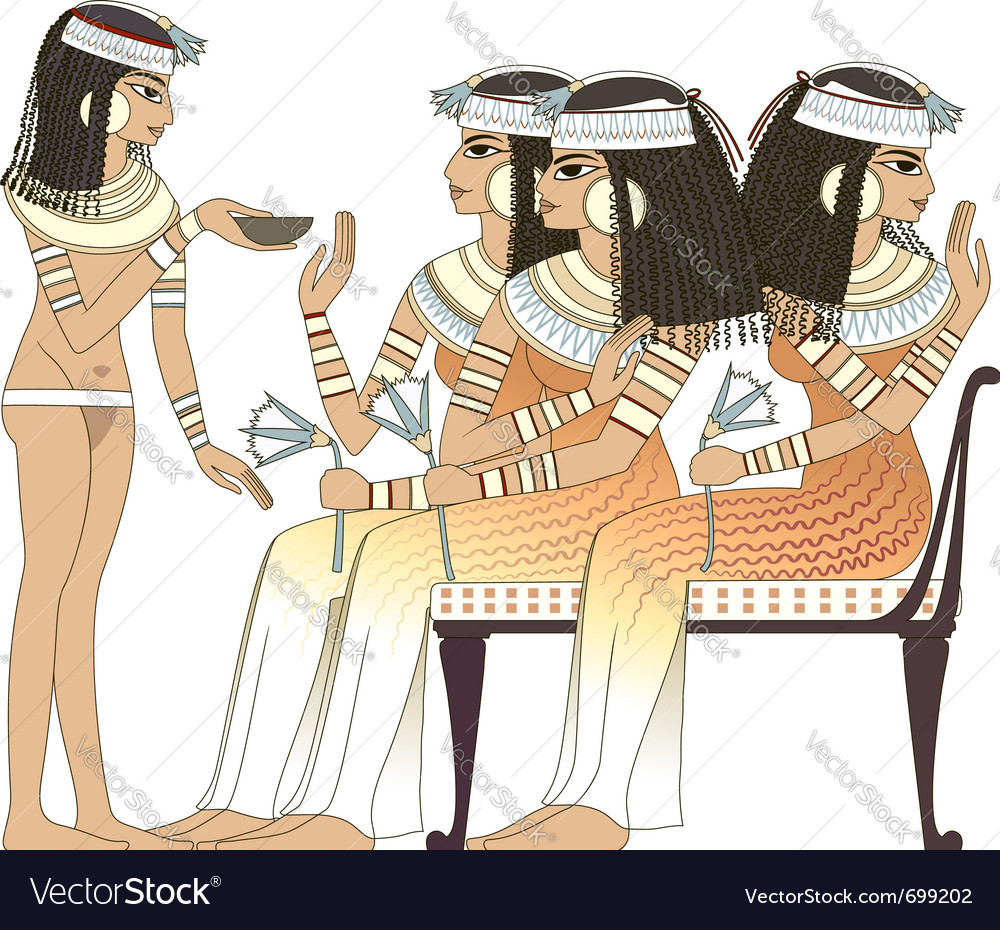Ancient egypt woman vector | Price: 3 Credit (USD $3)